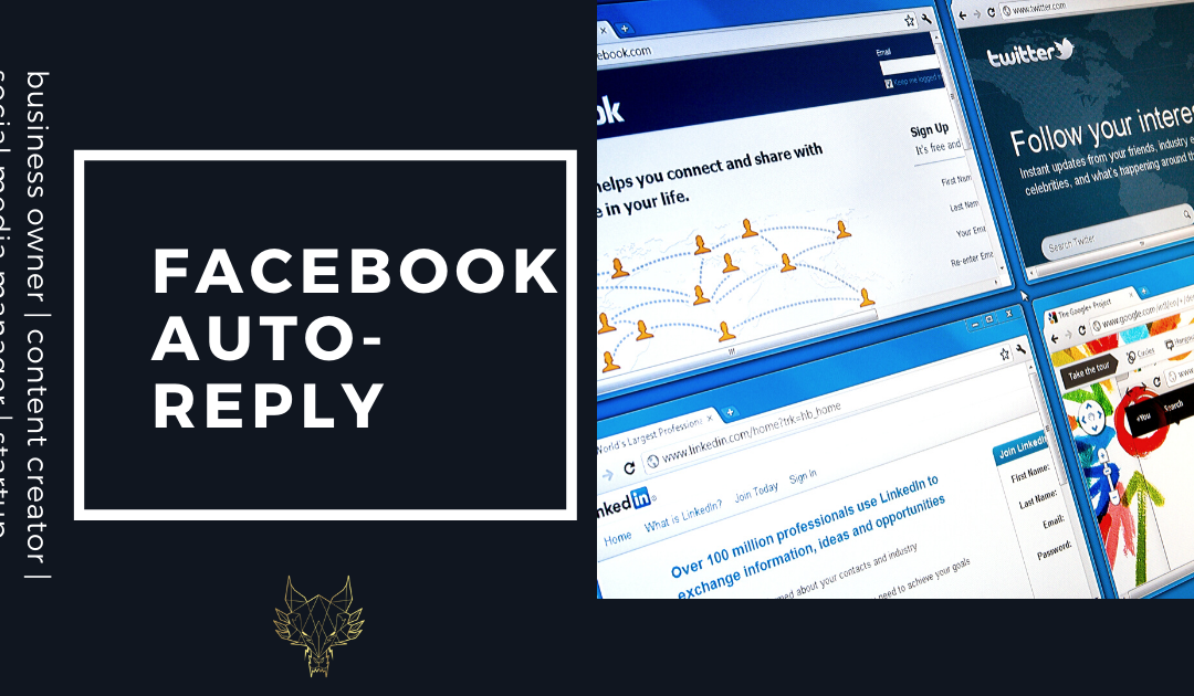 How to set up an auto-reply on Facebook Messenger?