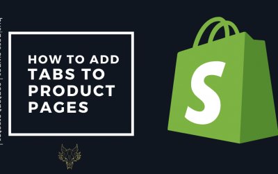 How to add tabs to product pages in Shopify in 4 easy steps